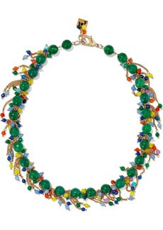Rosantica Woman Rossini Gold-tone Bead Necklace Emerald