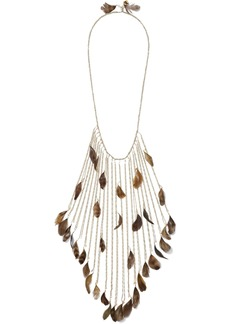 Rosantica Woman Selva Gold-tone Bead And Feather Necklace Gold