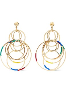 Rosantica Woman Sesamo Gold-tone Cord Earrings Gold