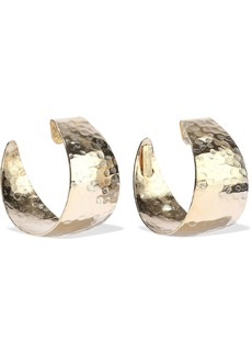 Rosantica Woman Timo Hammered Gold-tone Hoop Earrings Gold