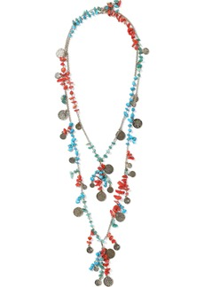 Rosantica Woman Vento Set Of Two Gold-tone Beaded Necklaces Multicolor