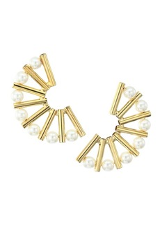 Rosantica Saggezza Faux Pearl Fan Earrings