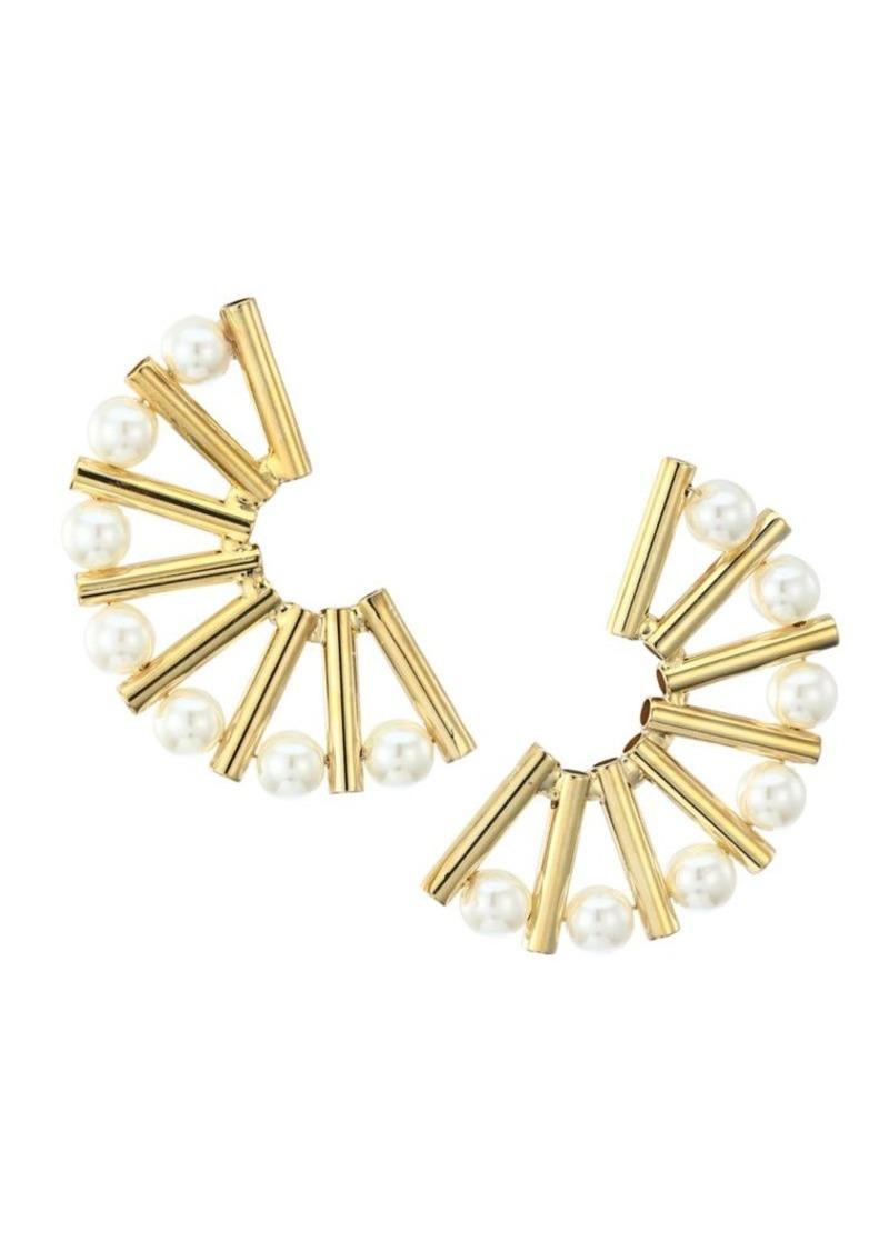 Rosantica Saggezza Faux Pearl Fan Earrings