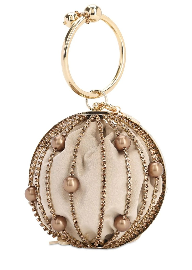 Rosantica Sasha Crystal Sphere Top Handle Bag