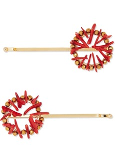 Rosantica Set Of Two Gold-tone And Resin Hair Slides