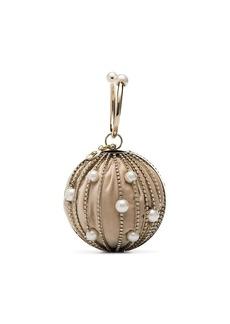 Rosantica silver Sasha pearl and crystal embellished clutch bag