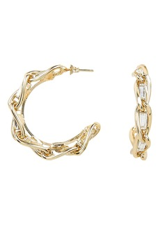 Rosantica Braided Crystal Hoops