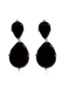 Rosantica Tempo Onyx Drop Clip-on Earrings
