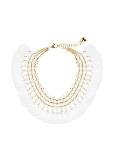 Rosantica transparent beaded disc necklace