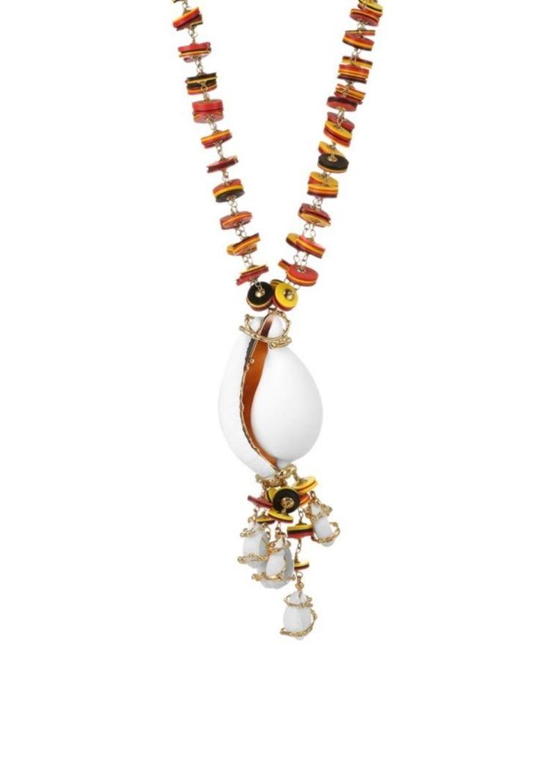 Rosantica Viper Long Shell Necklace