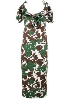 Rosie Assoulin Blooming Onion tropical print dress