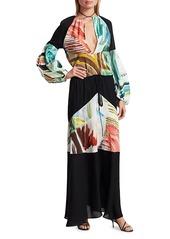 Rosie Assoulin Bohemian Puff-Sleeve Maxi Dress