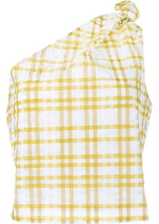 Rosie Assoulin checked on shoulder top