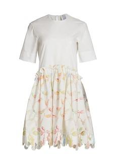 Rosie Assoulin Ebbs & Flows Bead-Print Dress