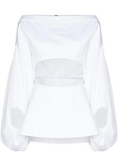 Rosie Assoulin Fig cut-out shirt