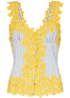 Rosie Assoulin floral embroidered cotton tank top