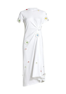 Rosie Assoulin Floral Knotted T-Shirt Dress