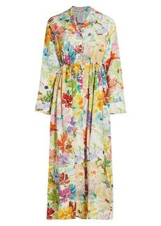 Rosie Assoulin Floral Maxi Shirtdress