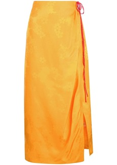 Rosie Assoulin floral patterned side slit skirt