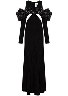 Rosie Assoulin fruit-jacquard cut-out maxi dress