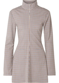Rosie Assoulin Hans Yolo Checked Stretch-wool Blend Top