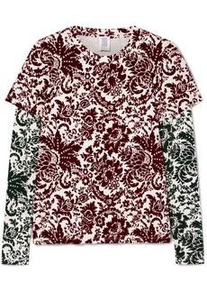 Rosie Assoulin Layered Flocked Jersey Top