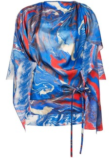 Rosie Assoulin marble printed cape