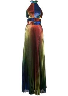 Rosie Assoulin metallic pleated gown
