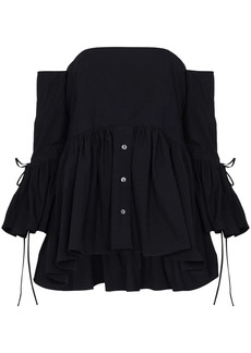 Rosie Assoulin off-the-shoulder ruffle blouse