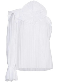 Rosie Assoulin One shoulder pleated top