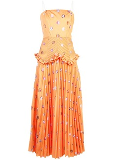 Rosie Assoulin patterned pleated detail dress