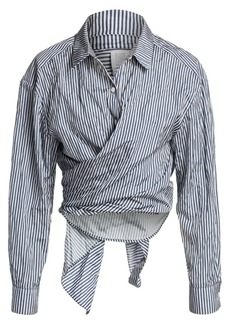 Rosie Assoulin Reversible Classic Tie Front Shirt