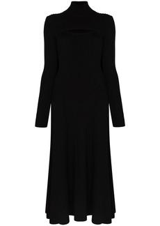 Rosie Assoulin roll-neck knitted midi dress
