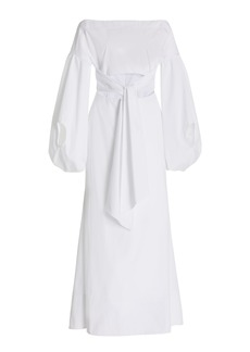 Rosie Assoulin - Women's Fig Cutout Poplin Maxi Dress - White - Moda Operandi