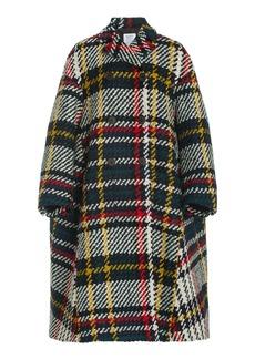 Rosie Assoulin - Women's Plaid Wool-Blend Peacoat - Plaid - Moda Operandi