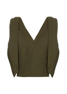 Rosie Assoulin Brush Ya Shoulder Off cotton-blend top