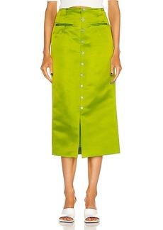 Rosie Assoulin Button Down Pencil Skirt