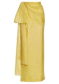 Rosie Assoulin Hustle and Bustle floral-jacquard silk-blend skirt