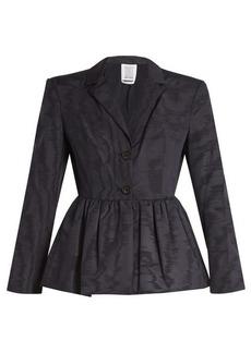Rosie Assoulin Peplum-hem silk and wool-blend moire jacket