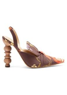 Rosie Assoulin Rasin sculptured-heel floral-print pumps