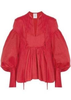 Rosie Assoulin Woman Swash Buckler Oversized Cotton-poplin Top Red