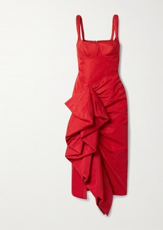 Rosie Assoulin Ruffled Cotton-blend Faille Midi Dress