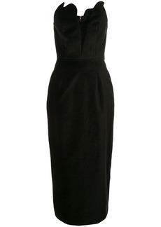 Rosie Assoulin scalloped bustier dress