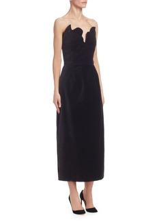 Rosie Assoulin Strapless Bustier Midi Dress
