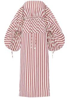 Rosie Assoulin Striped Cotton Canvas Dress