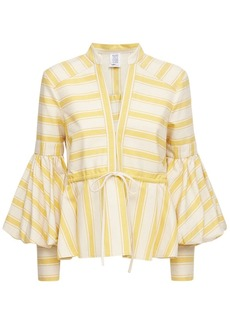 Rosie Assoulin Striped Cotton Canvas Shirt