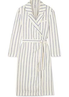 Rosie Assoulin Striped linen wrap dress