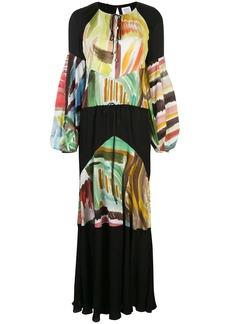 Rosie Assoulin Sutter watercolour abstract-print maxi dress