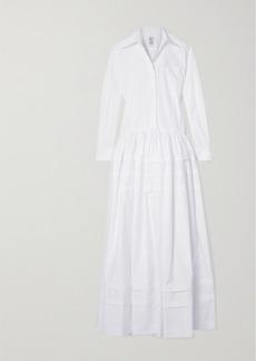 Rosie Assoulin Tiered Cotton-poplin Maxi Dress