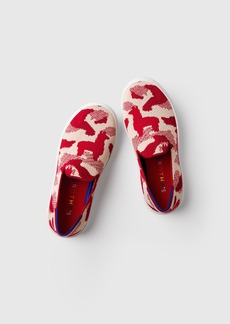 Rothy's The Kids Sneaker Red Llama Camo